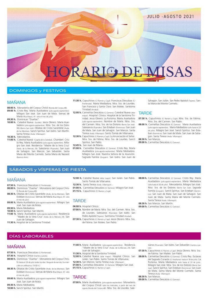 Misas Verano 2021 Salamanca