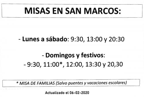 Horario Misas Iglesia de San Marcos (Salamanca)